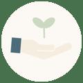 Icon Nachhaltige Materialien