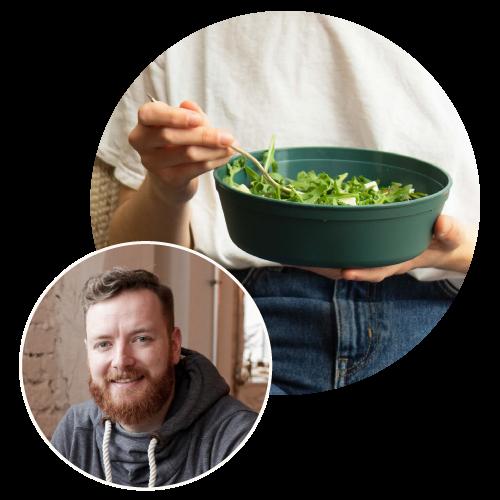 Mehrweg Essensbehälter REBOWL und Fabian Eckert von reCup